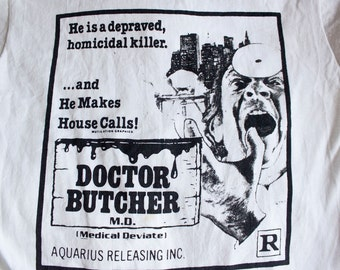 80s Doctor Butcher M.D. shirt - Vintage Zombie Holocaust t-shirt - Screen Stars horror movie tee