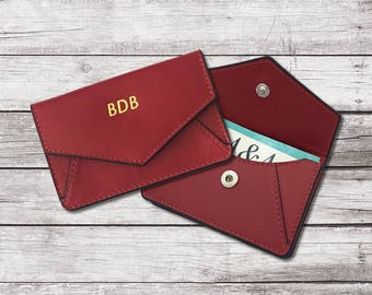 Personalized Leather Card Holder,Monogrammed Business Card Holder,Business Card Case,RFID Credit Card Holder,Employee Gift,Business Gift