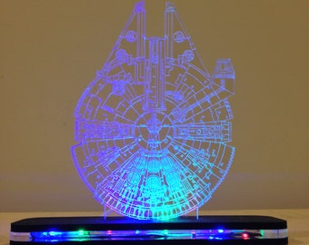 Star Wars Millennium Falcon Lighted LED Acrylic Sign