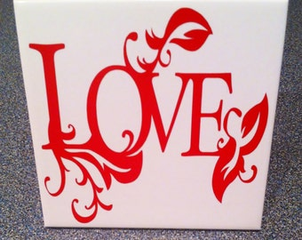 4 inch love tile sentiment office decor plaque wall decoration inspirational saying