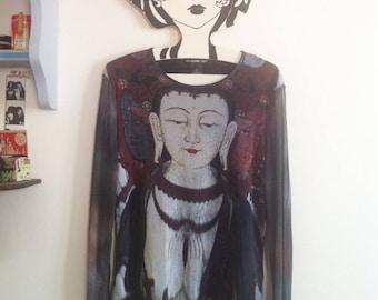 Rare 1990s iconic Buddha mesh tee  by Vivienne Tam / small - medium