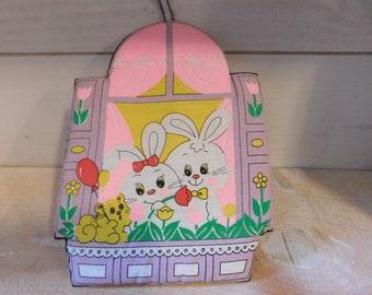 Vintage Easter Rabbit Bunny Pot Holder - Kitchen Holiday Easter Decor