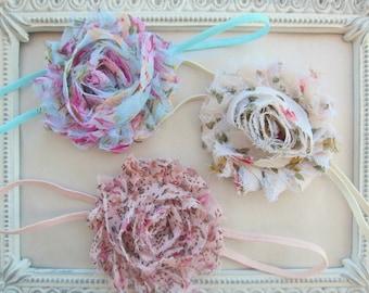 Vintage Baby Headband Set - Baby Girl Headband, Newborn Girl Headband, Sizes Newborn to Adult, Baby Gift Set