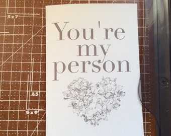 Custom romance card birthday card for boyfriend husband or Valentine's Day card