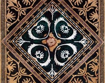 Arabesque Palmette Art Mosaic - Abruka