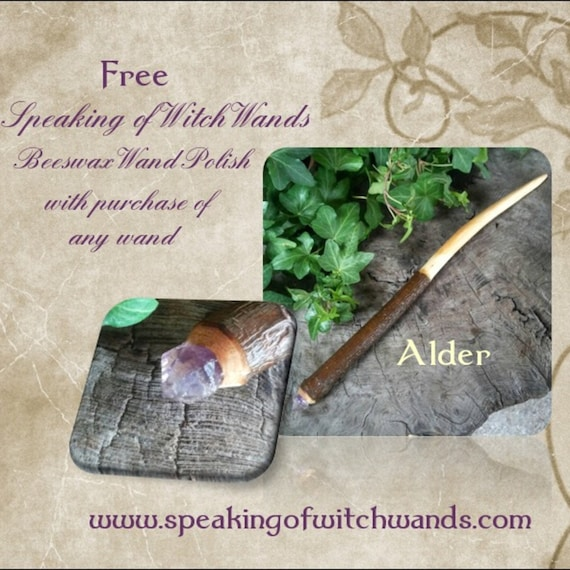 Alder Witch Wand - Magic Wand - Wiccan Wand - Ostara - Witchcraft - Occult - Baguette Magique