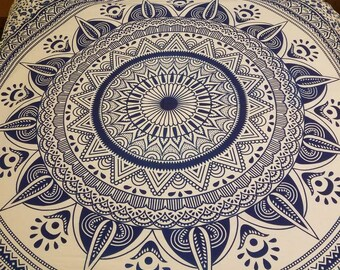 Mandala bedding mandala tapestry Blue Ombre mandala tapestry Boho bedding mandala room decor Boho Decor hippie tapestry hippie bedding
