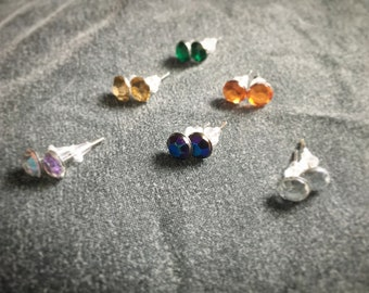 Earring Studs - 5 Colours available - 6mm