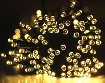 100 LEDs Warm White 40ft. Waterproof Lights Solar Powered Outdoor String Lights ------ Warm White ------ USA Seller ------ Fast Shipping