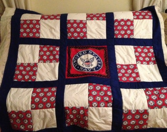 Navy Military Quilt