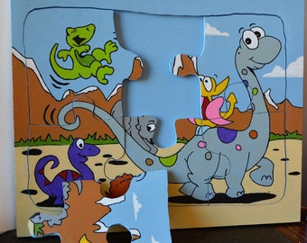 Custom wooden child's jigsaw puzzle