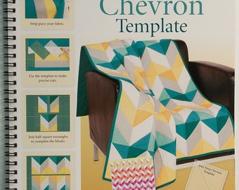 Easy Strip Chevron Quilt Book and Acrylic quilt Template for strip piecing