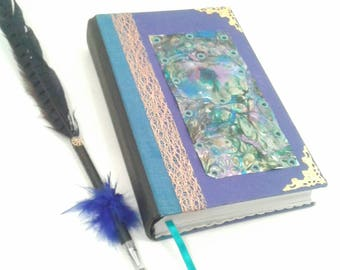 Purple Metal Journal, Distressed Metal Journal, built in Bookmark, Lined pages, Diary, Notebook, writing journal, gift for her