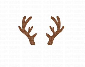 Antlers SVG, Deer SVG, SVG Files, Christmas Svg, Digital Cut Files, Cricut Cut Files, Silhouette Cut Files
