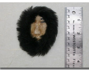 Vintage Miniature Alaskan Eskimo Mask, Hand Sewn Caribou