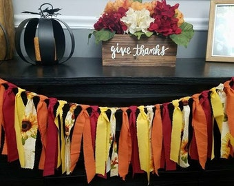 Fall banner, garland, thanksgiving decor, home decor, Happy Thanksgiving banner