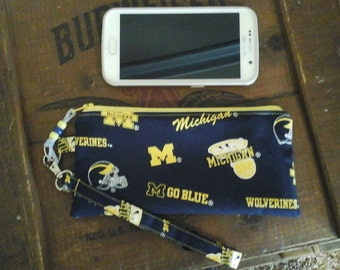 University Of Michigan Wolverine wristlet