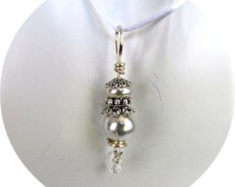 Pendentif en nacre blanc, collier de perles, bijoux de mariage, goutte pendentif perle, perles, pendentif de demoiselle d'honneur, pendentif perles, cordon inclus, 1140
