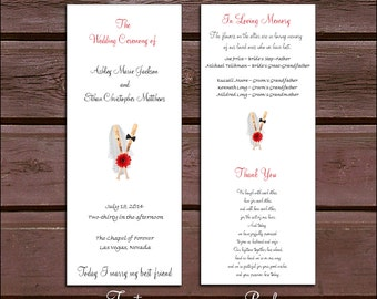 100 Baseball Wedding Ceremony Programs
