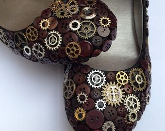 Steampunk Ballet Flats