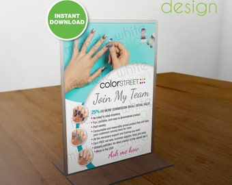 Color Street Nails, Join My Team, Flyer/Poster, Pacific Waters - PRINTABLE Digital File
