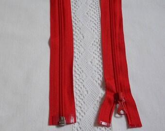 Fermeture éclair séparable 45 cm rouge vif
