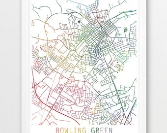 Bowling green ky map Etsy