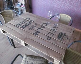 "Range table ""Kepp Calm and drink Coffee"" range furniture *."