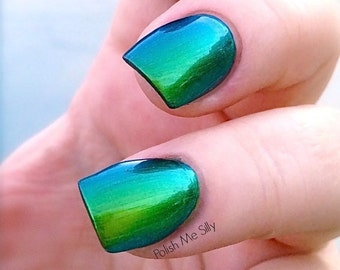 Dreamer-Mega Multichrome Multi-Color Shifting Polish:  Custom-Blended Glitter Nail Polish / Indie Lacquer / Polish Me Silly