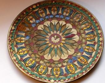 Antique Handmade colorful Decorative Copper Plate Brass Enamel & Vintage copper plate   Etsy