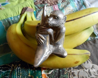 Monkey Business Silver-Plated Bronze Ornament Paperweight Curio 8cm