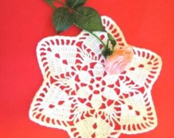 Handmade crochet mat 100% cotton/cotton