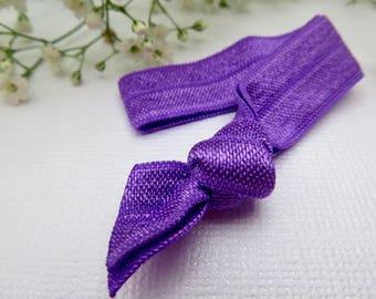 Purple elastic hair tie | hair elastic | hair bobble | bohemian bracelet