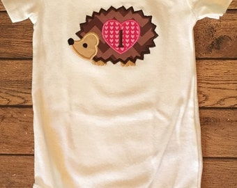 Hedgehog Birthday Shirt or Baby Bodysuit