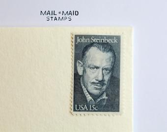 John Steinbeck || Set of 10 Unused Vintage Postage Stamps
