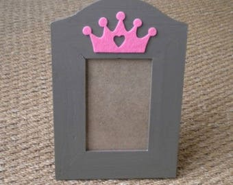 """Pink """"Princess"""" wooden picture frame"""