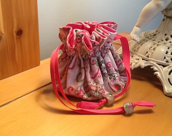 "Sweet Pink Travel Jewelry Bag ""Gift-Away"""