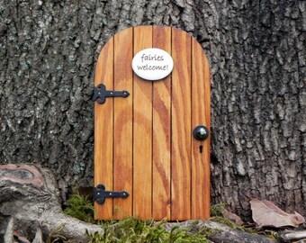 Fairy Door fairy garden miniature wood fairies welcome