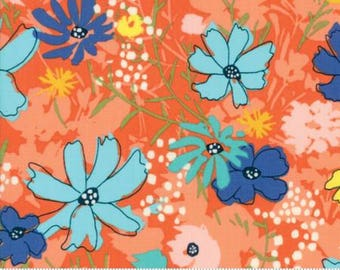 Fabric by the Yard- Charleston -- Wild Nectar by Crystal Manning in Clementine