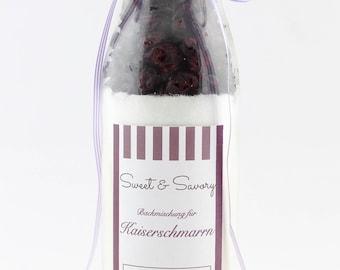 Kaiserschmarrn, Kaiserschmarren, baking mix in the bottle for Kaiserschmarrn with cranberries, ideal as a gift for him and her