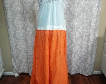 Boho Gypsy Dress, Hippie Upcycled Dress, Eco Friendly Boho Dress, Festival Dress, Festival Clothing