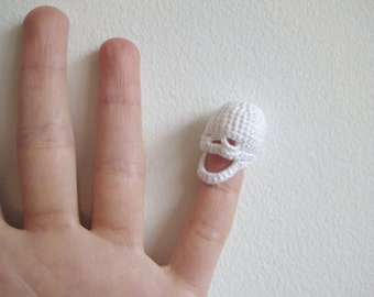 Tiny Crocheted Skull