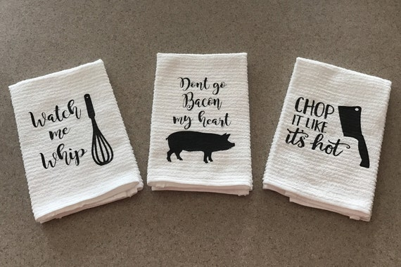 3pk Funny Kitchen Towels Kitchen Decor Humorous Towels
