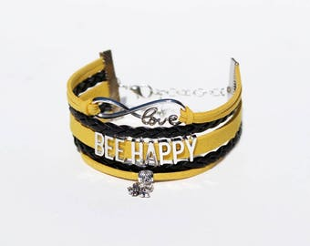Bee Bracelet | Beekeeper Bracelet | Beekeeper Jewelry | Beekeeper Gift | Honey Bee Bracelet | Bee Lover | Save The Bees | Wildlife Jewelry