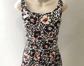 60's  Cotton Swimsuit/Playsuit