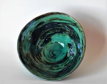 Whimsy Blue-Green Bowl