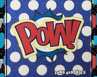 POW Comic Book woorden decoratie papier patchwork kaart maken en scrapbooking