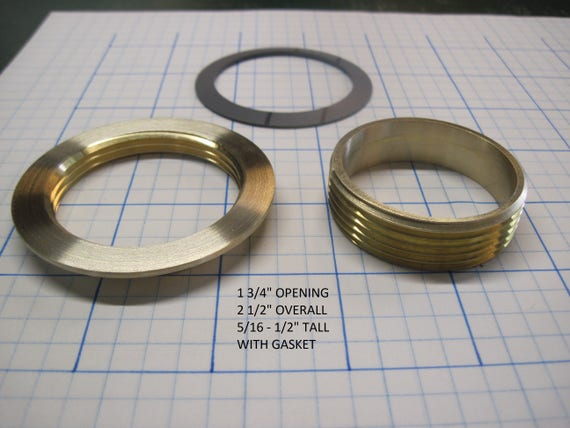 "1 3/4"" Opening Threaded Brass Inserts"