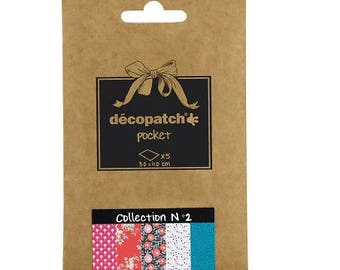 Set of 5 paper Decopatch 30 x 40 cm - Pocket Collection N 2 - Ref DP002 - until the stock!