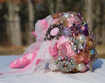 Pretty in Pink- Brooch Bouquet